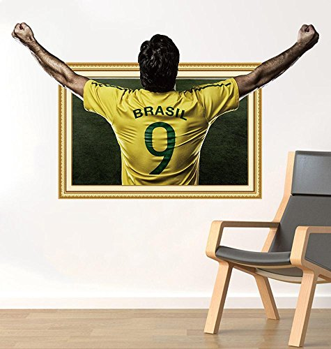 College-wohnheim-poster (Kmmk 3D dreidimensionale Fußball Aufkleber Poster Aufkleber College Wohnheim Dekoration Wandbild)