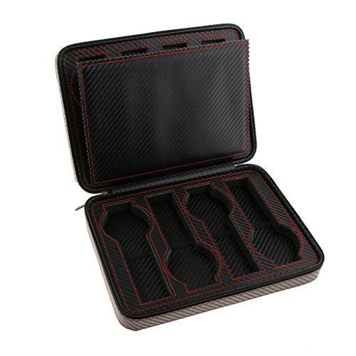 Sharplace Portable Reißverschluss Travel Watch Storage Organizer Fall Für Ihre Luxusuhr - Schwarz- 8 Slots