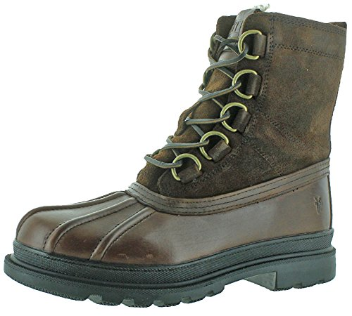 FRYE Mens Riley D-Ring Lace Rain Boot Expresso