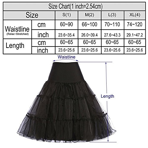 Imixcity Femme 50s Rétro Année Rockabilly TUTU Jupon Balançoire Crinoline Petticoat Underskirts 3 Layers Bleu Marine