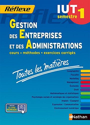 Toutes les matières IUT Gestion des entreprises et des administrations - Semestre 1 par Nicolas Bernard