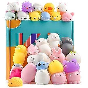KUUQA 30Pcs Squeeze Animal Toys