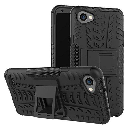 LG Q6 - Q6 Plus Schutzhülle Abdeckung [Scoot-DE] Schützende verstärkte TPU (2 in 1) Hybride Shockproof Rüstung für LG Q6 - Q6 Plus