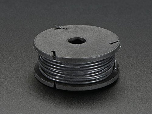 Adafruit Silicone Cover Stranded-Core Wire - 25ft 26AWG - Black [ADA2517] (Core-lager)