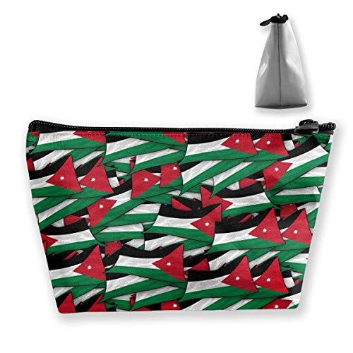 Jordan Flag Wave Collage Medium Cosmetic Makeup Bag Travel Pouch Carry Case