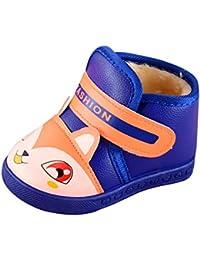 Malloom Zapatos de Algodón Botas para la Nieve Botas de Invierno para Niños Botas de Senderismo Cálido Forro Botas de Montaña Deportiva Cómoda Niño al Aire Libre Senderismo Trekking Zapatos