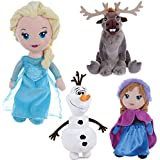 "OFFICIAL DISNEY FROZEN 12"" PLUSH SOFT CUDDLY TOY XMAS GIFT 30CM FUN CUTE GIRLS (SVEN)"
