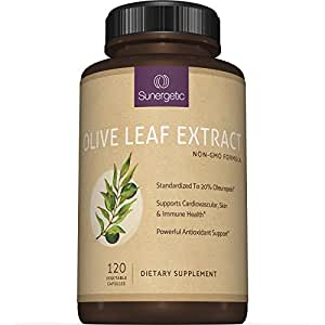 Best Olive Leaf Extract Capsules - Standardized To 20% Oleuropein - Super Strength Olive Leaf Exact Supplement Supports Healthy Immune, Skin & Cardiovascular Health - 750mg Per Capsule - 120 Capsules