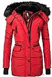 Navahoo Damen Jacke Wintermantel Winterparka Sesa (vegan hergestellt) Rot Gr. XL