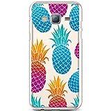 Hpory Schutzhülle passend für Samsung Galaxy J3 2015/2016 Ananas
