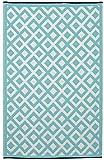 Fab Hab Marina - Alfombra para Exterior e Interior - Azul y Blanco Brillante - (120 cm x 180 cm)