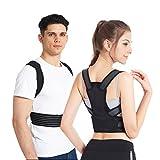 Slimerence Rücken Haltungskorrektur, Rücken Schulter Verstellbar Atmungsaktiv Bandage Geradehalter zur Haltungskorrektur für Damen, Herren und Child M
