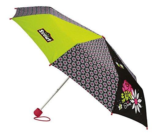 Scout Regenschirm Sunshine, Schwarz/Gelb
