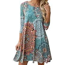 Honestyi Damen Lange Ärmel Jahrgang Boho Maxikleider Abendkleider  Partykleider Strand Blumen Kleid Minikleid Minikleid Vintage Spitze f233384520