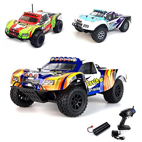 1/18 Elektro 2.4GHz Off-Road RC ferngesteuerter Short Course Pickup Truck Buggy,4WD, Digital vollproportionale Steuerung Top-Speed bis zu 35 km/h, Komplett-Set RTR Rc Short Course Truck Rtr