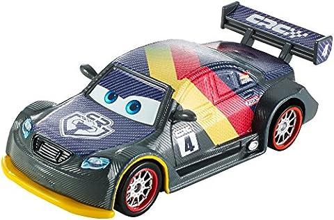 Mattel Disney Pixar Cars–Die Cast Model–Carbon Racers–Max Schnell DHM77[UK