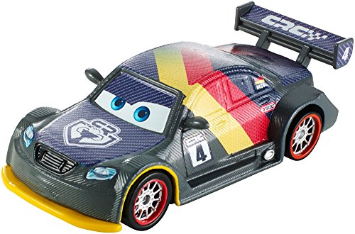 Mattel DHM77 - Disney Pixar Cars - Carbon Racers - Die Cast Modell - Max Schnell [UK Import]