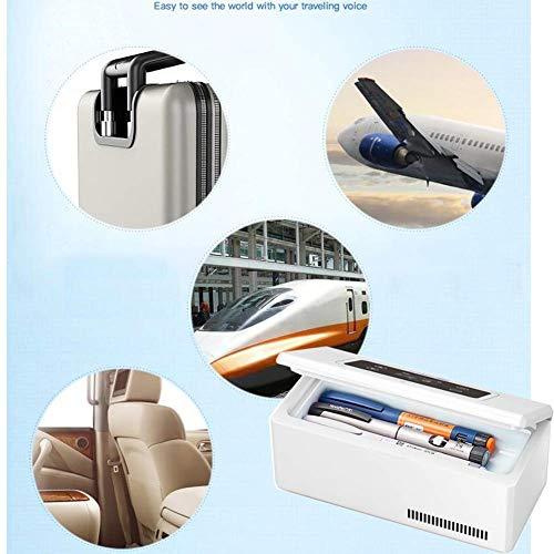 5176nyxag4L - Kievy Caja Refrigerada De Insulina Portátil De Gran Capacidad, Pantalla LCD Recargable 0-18 °C Coche Interferón Refrigerador Médico Mini Refrigerador Refrigerador, Camping