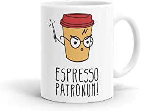 Block 5 Ceramics Harry Potter Espresso Patronum Coffee Mug, 325ml(Multicolour)