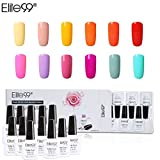 Elite99 Esmalte Semipermanente UV LED 12pcs Kit Uñas de Gel...