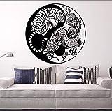 Xzfddn Wandtattoos Versteckte Drachen Kauernde Tiger Vinyl Wandaufkleber Asiatischen Mythologie Stil Poster Home Decor Yin Yang Vinyl Kunst