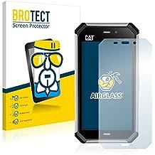 BROTECT AirGlass Protector Pantalla Cristal Flexible Transparente para Caterpillar Cat S50 Protector Cristal Vidrio - Extra-Duro, Ultra-Ligero, Ultra-Claro