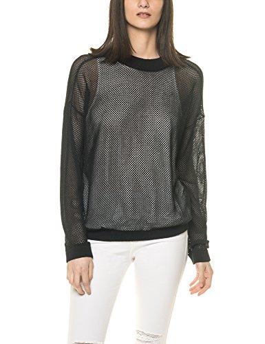 dr-denim-jeansmakers-womens-paisley-womens-black-mesh-sweatshirt-in-size-l-black