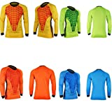COOLOMG Men Pants M-3XL Soccer Keeper Football Goalkeeper Goalie Foam Padded Jersey Shirt