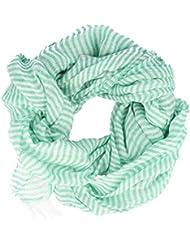 Strellson Écharpe lumière menthe rayés vert-blanc 200 cm