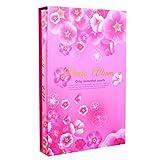 SESO UK- Floral Interstitial Fotoalbum, Hochzeit Memo Fotoalben, für 300 Fotos mit Einer Größe von 6x4/10.2x15.2cm (4D) (Farbe : Pink)
