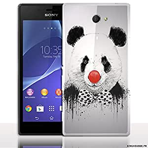 COQUE FUN SONY XPERIA M2 PANDA CLOWN - POUR MOBILE SONY