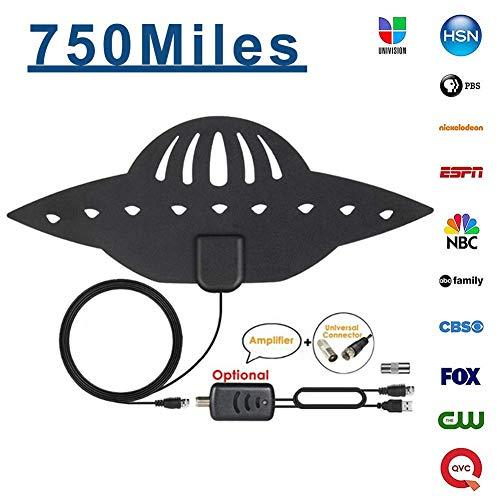 750Miles 4K HDTV Antenne, digital verstärkte Indoor HD TV Antenne mit Newset Verstärker - Pick T2