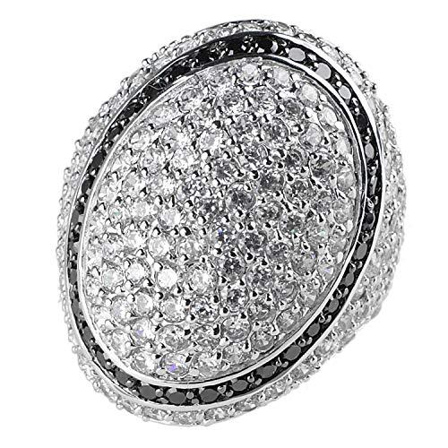 Sarah Kern Damen Pavé-Ring aus 925 Sterling Silber rhodiniert mit Zirkonia 51/16,2MM (57 (18.1))