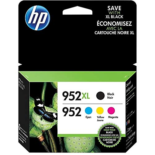 HP 952XL High Yield Black/952 C/M/Y Color Ink Cartirdges (N9K28AN#140) (Inkjet-patronen Hp 940)