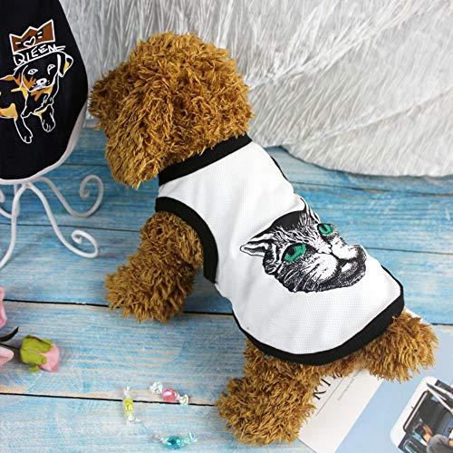 yiopk Sommer Neue Hund Kleidung dünne Haustier Kleidung Weste Katze Frühling und Herbst Golden Retriever Welpen Kleiner Hund Teddy Kostüme, - Golden Retriever Welpen Kostüm
