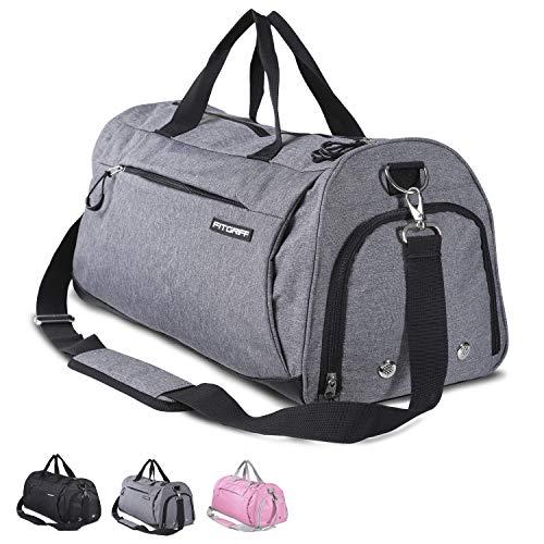 Fitgriff Sporttasche - Fitnesstasche mit Schuhfach und Nassfach - Sport Tasche für Frauen und Männer - Größe Small: 48cm x 26cm x 25cm [30 Liter]