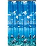 EDLER Textil Duschvorhang 220 x 200 cm Delfin