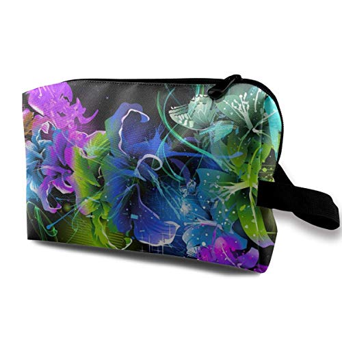 c7764c6dd378 Women's Abstract Artistic Floral Flowers Travel Hanging Toiletry Bag  Portable Travel Kit Shaving Bathroom Storage Bag Cosmetic Organize