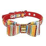 TFENG FENG Halsband für Hunde und Katzen, Classic Soft Weich Baumwolle Einstellbare Katzenhalsband Welpen Hunde Halsband, 13 Farben, Größe XS bis L