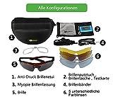 Купить RockBros Radbrille Polarisiert Fahrradbrille Brillen Sportbrillen UV-Schutz Ultraleicht mit 5 Wechselgläser