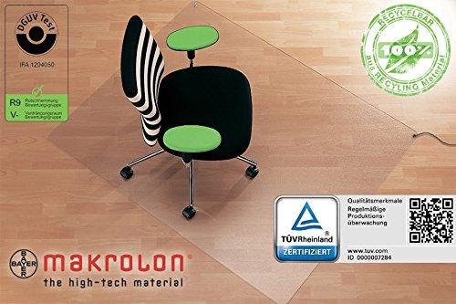 Antistatikmatte / ableitfähige Bodenschutzmatte, 120 x 150 cm, für den Einsatz auf Laminat-, Parkett-, PVC- oder Linoleumböden, aus transparenten Makrolon