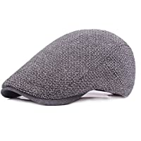 VORCOOL Newsboy Hat Peaked Cap Cabbie Hat Driving Hat Sombrero Plano irlandés para Hombres, Mujeres, Gris