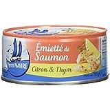 Petit Navire Emietté de Saumon Citron/Thym 110 g - Pack de 12