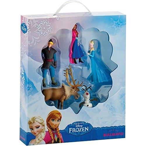 Bullyland 12306 - Frozen Minifigurenset, 5 Figuren (Disney Prinzessin Elsa Und Anna)