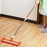 Piatto pieghevole grande morsetto asciugamano mop tappeto domestico piastrella in legno massello, arancio