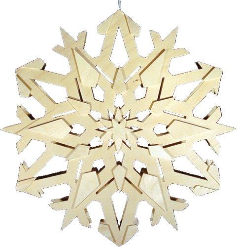 holz bastelset 3 d laubs ge beleuchtetes fensterbild schneekristall zum auss gen und. Black Bedroom Furniture Sets. Home Design Ideas