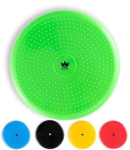ZenOne Sports ZenBalance Balance Ball Luftsitzkissen 33 cm inkl. Pumpe I Ergonomisches Luftkissen zum Sitzen mit GRATIS E-Book & Workout-Guide I Aufblasbares Sitzkissen für Damen und Herren (Grün)