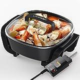 Multifonctionnel Ménage Hot Pot électrique Wok électrique Casserole anti-stick 1360w