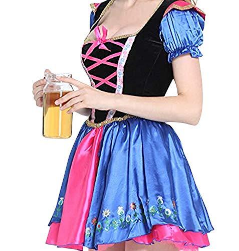 Das Gute Leben Damen Qualität Oktoberfest Bier-Mädchen Kostüm Größe 38-40 Kleid und ()