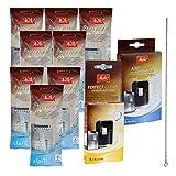 8 x MELITTA PRO AQUA Wasserfilter + MELITTA ANTI CALC Entkalkungspulver + MELITTA PERFECT CLEAN Reinigungstabs + QUVIDO Reinigungsbür